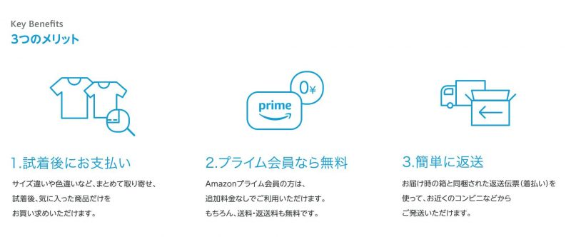 Amazonワードロープの特典を説明した画像